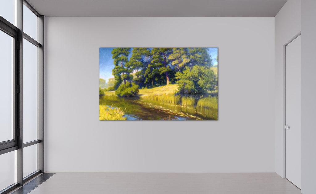 Sommertag, Leinwand, Öl, Lack, 60x90cm, Das Bild ist verkauft