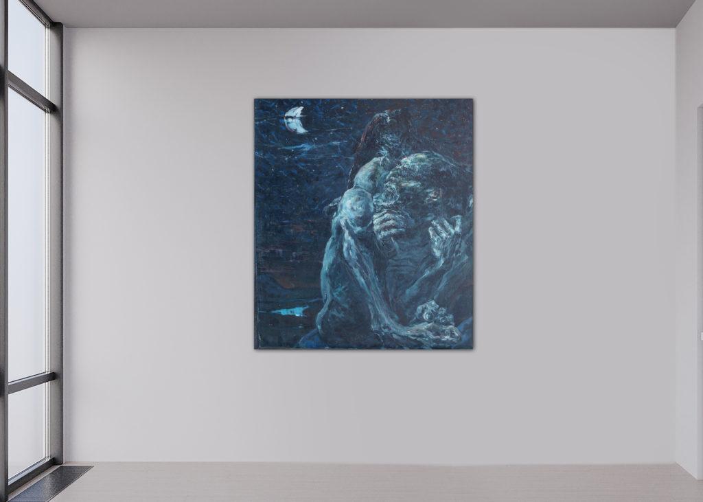 Zarathustra, Leinen, Öl, 77x92cm